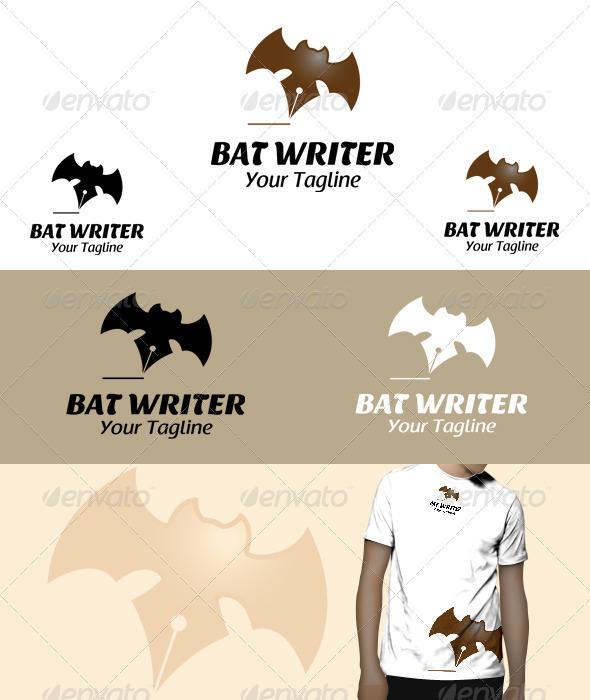 GraphicRiver Bat Writer Logo 5812956