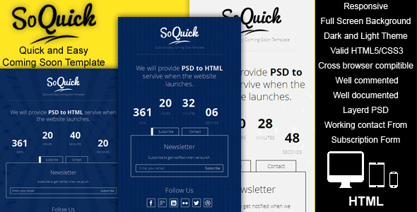 SoQuick - Quick and Easy Coming Soon Template - 01_preview1