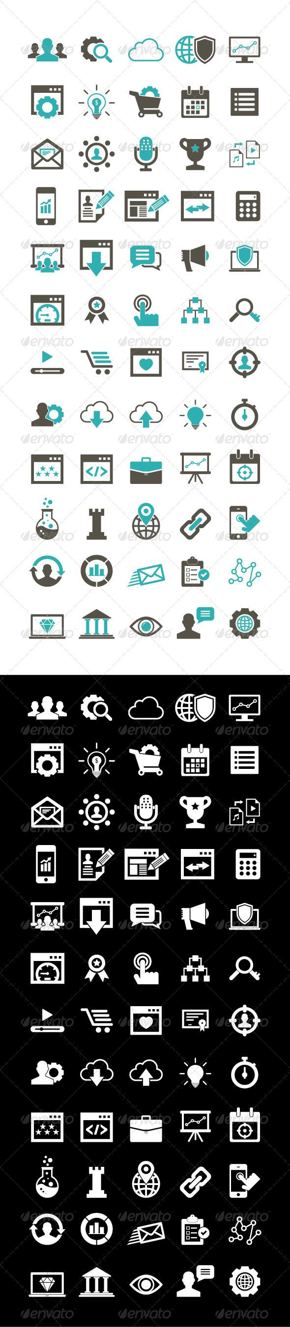 GraphicRiver 60 SEO Icon set 5813139