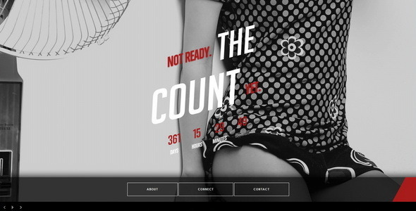 ThemeForest The Count Responsive Coming Soon Page 5100529