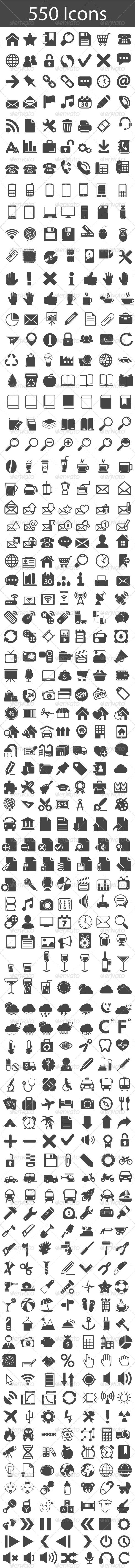 GraphicRiver Icons Set 5813243