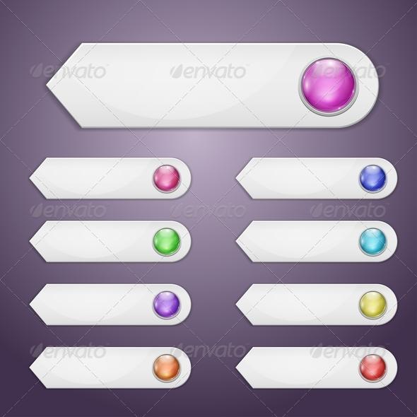 Set of Bookmarks - Web Elements Vectors