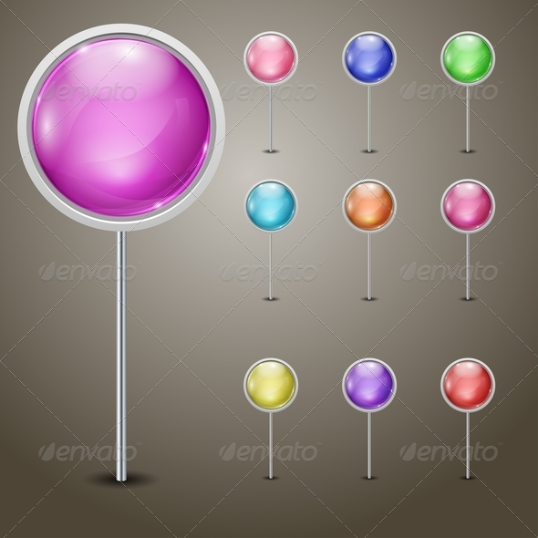 GraphicRiver Set of Markers 5813696