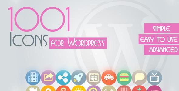 CodeCanyon 1001 Icons Plugin For WordPress 5813727