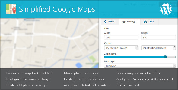CodeCanyon Simplified Google Maps 5674572