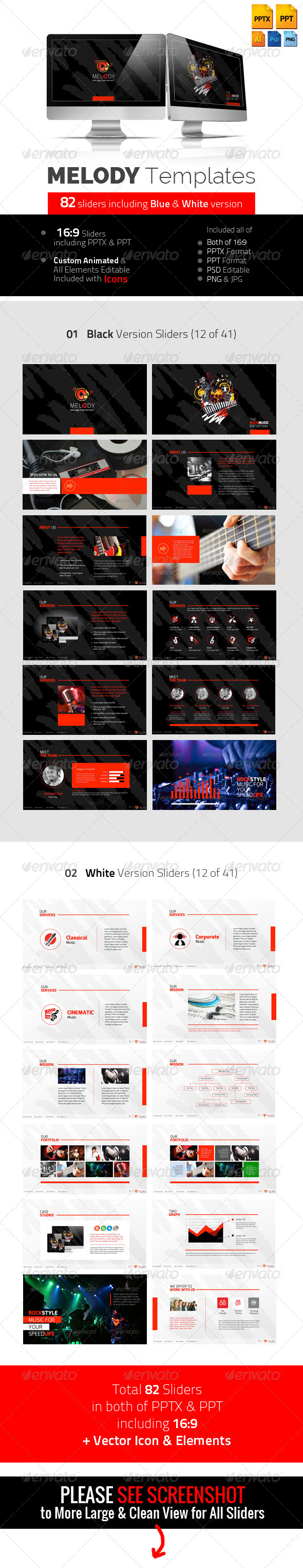 GraphicRiver Melody Professional Multimedia Templates 5814136