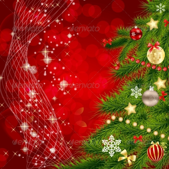 GraphicRiver Abstract Christmas and New Year Background 5814559