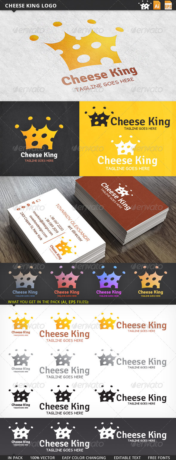 GraphicRiver Cheese King Logo 5814583