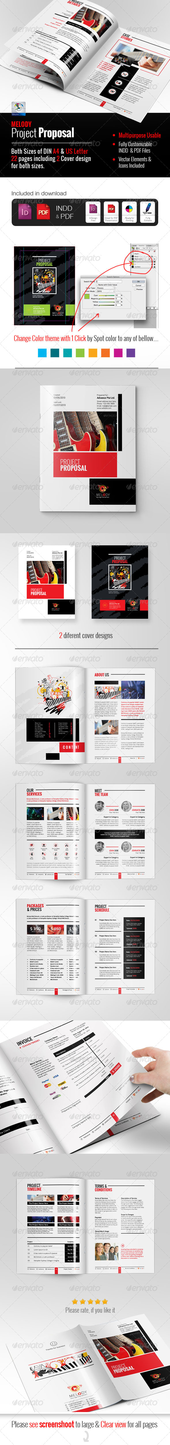 GraphicRiver Professional Clean Proposal 5814608