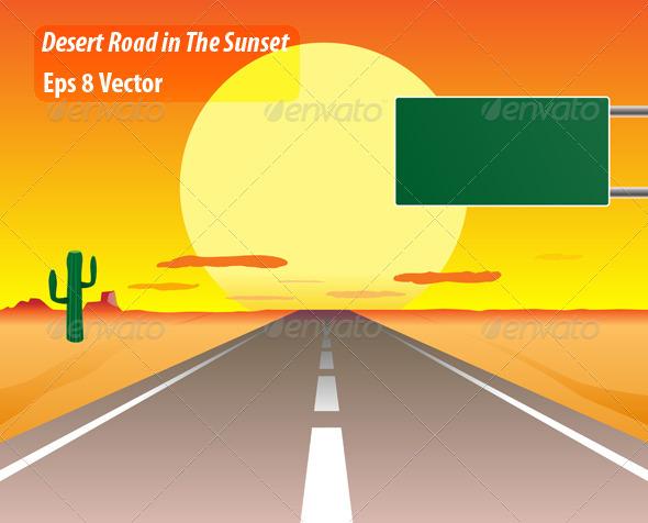 GraphicRiver Desert Road 5814689