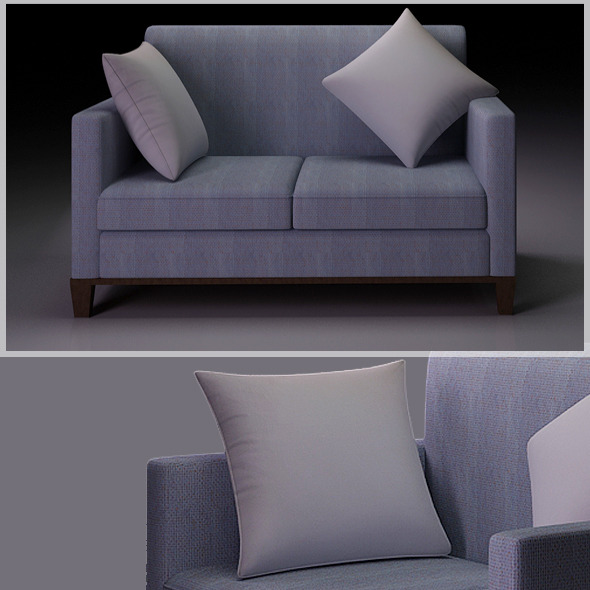 3DOcean Realistic Sofa Model 601435