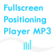 Fullscreen positioning Player MP3 - ActiveDen Item for Sale