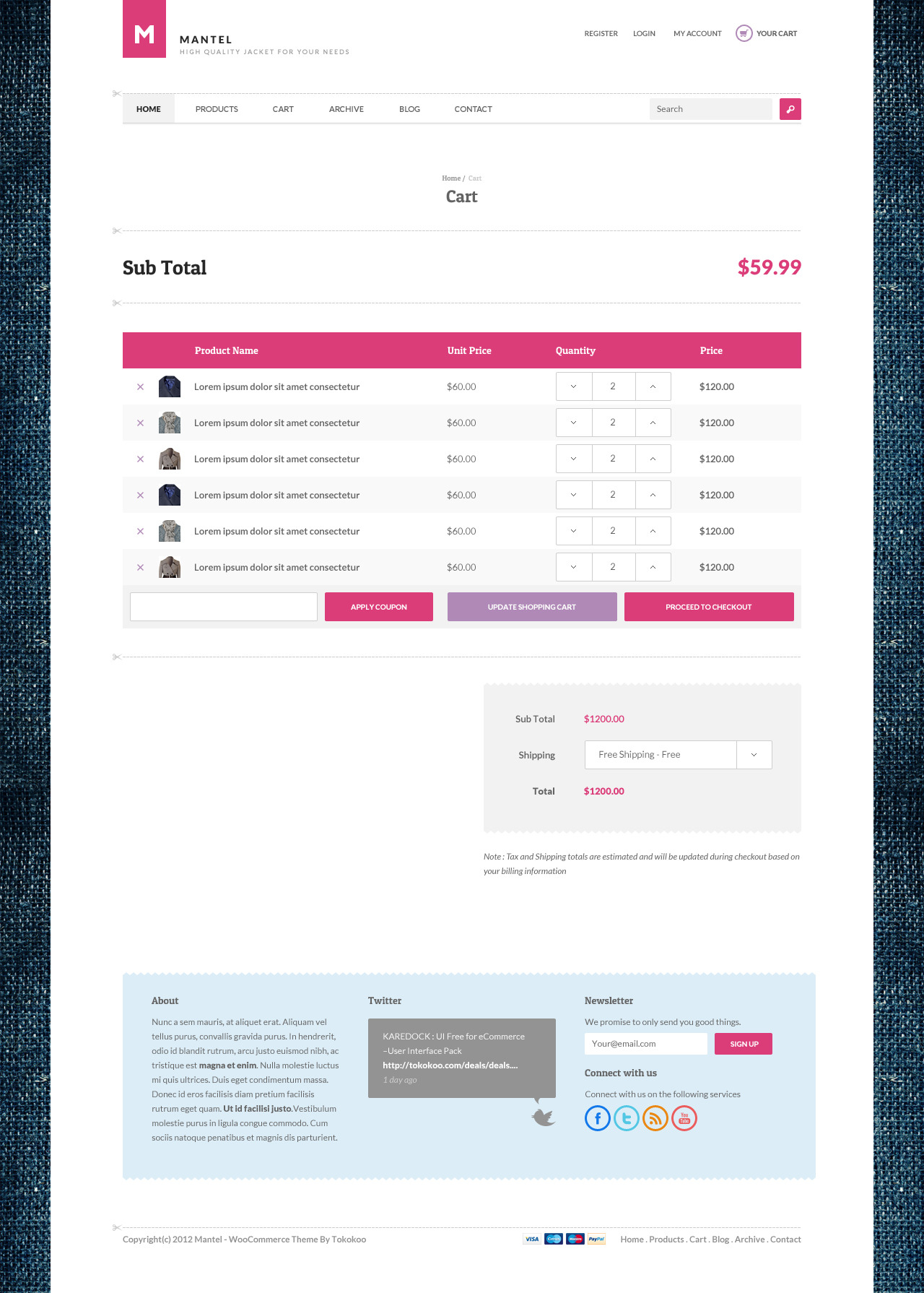 Mantel - Ultimate eCommerce PSD Templates
