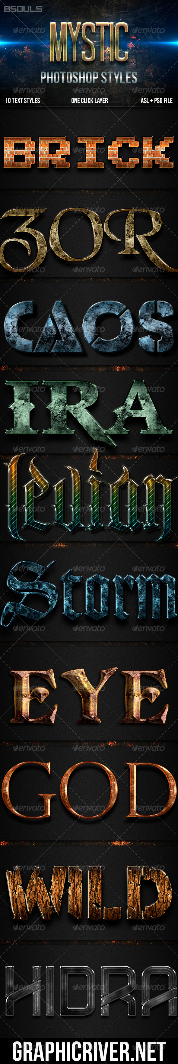 GraphicRiver Mistyc Photoshop Styles 5815378