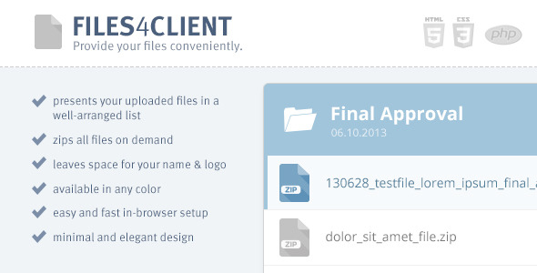 CodeCanyon Files 4 Client Advanced Directory Index 5787158