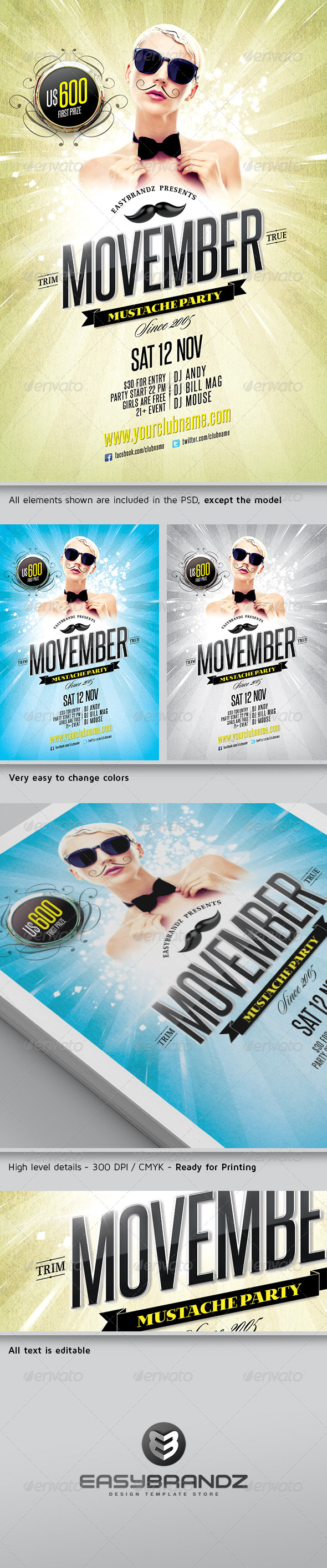 GraphicRiver Movember Flyer Template 5815854