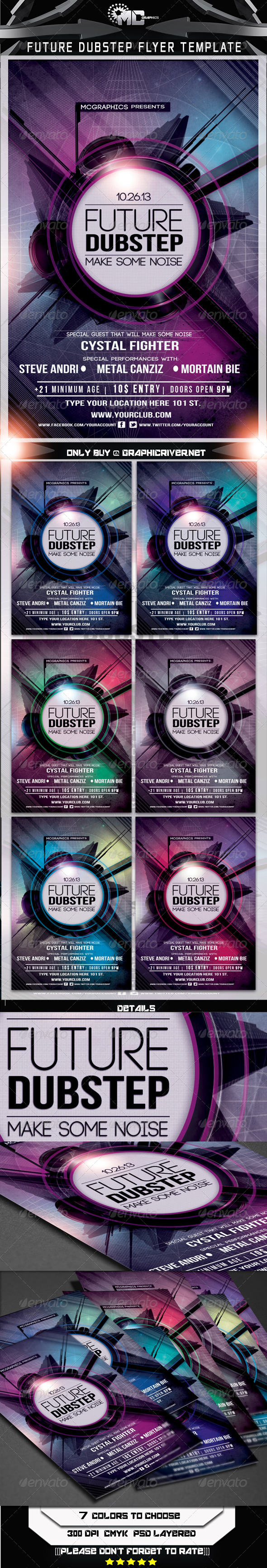GraphicRiver Future Dubstep Flyer Template 5699842
