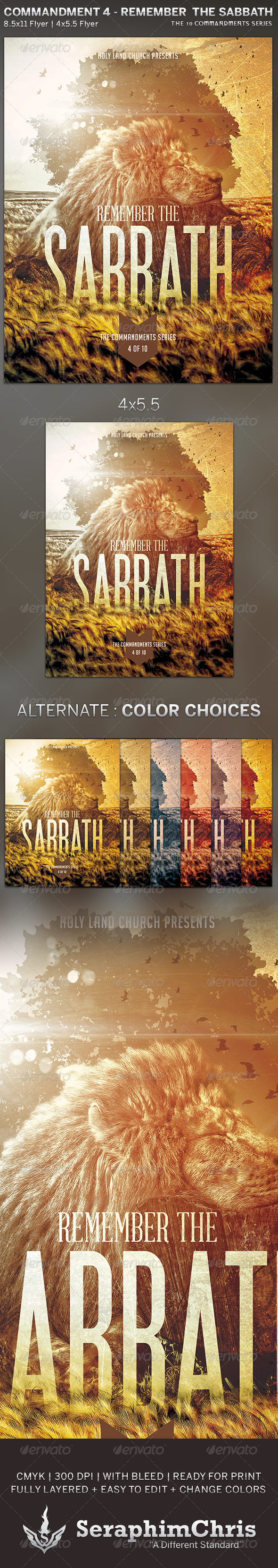 GraphicRiver Remember the Sabbath Church Flyer Template 5815936