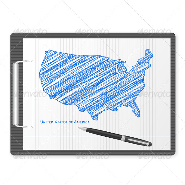 GraphicRiver Clipboard USA Map 5816067