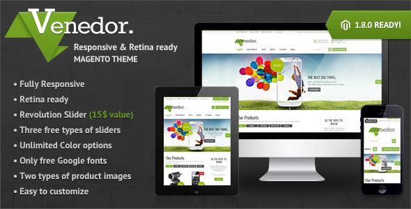 Venedor - Premium Responsive Magento Theme - Magento eCommerce