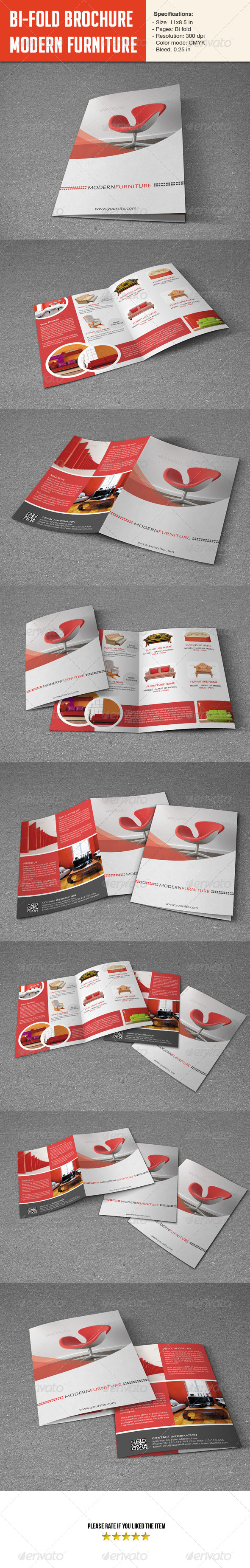 GraphicRiver Bifold Brochure For Furniture 5816098