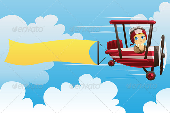 GraphicRiver Airplane Carrying Banner 5816411