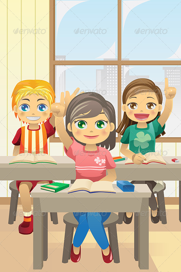 GraphicRiver Kids in Classroom 5816421