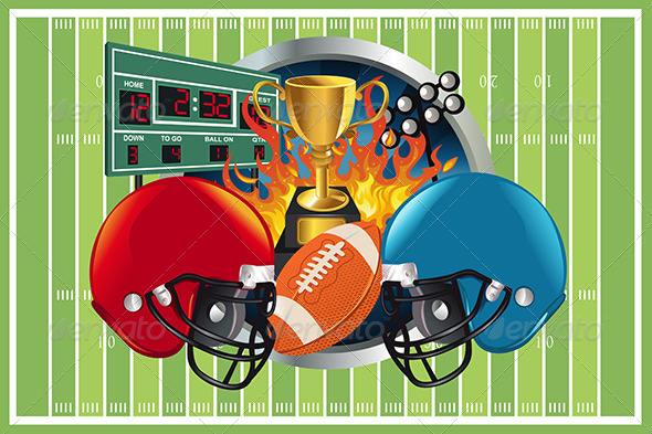 GraphicRiver American Football Background 5816477