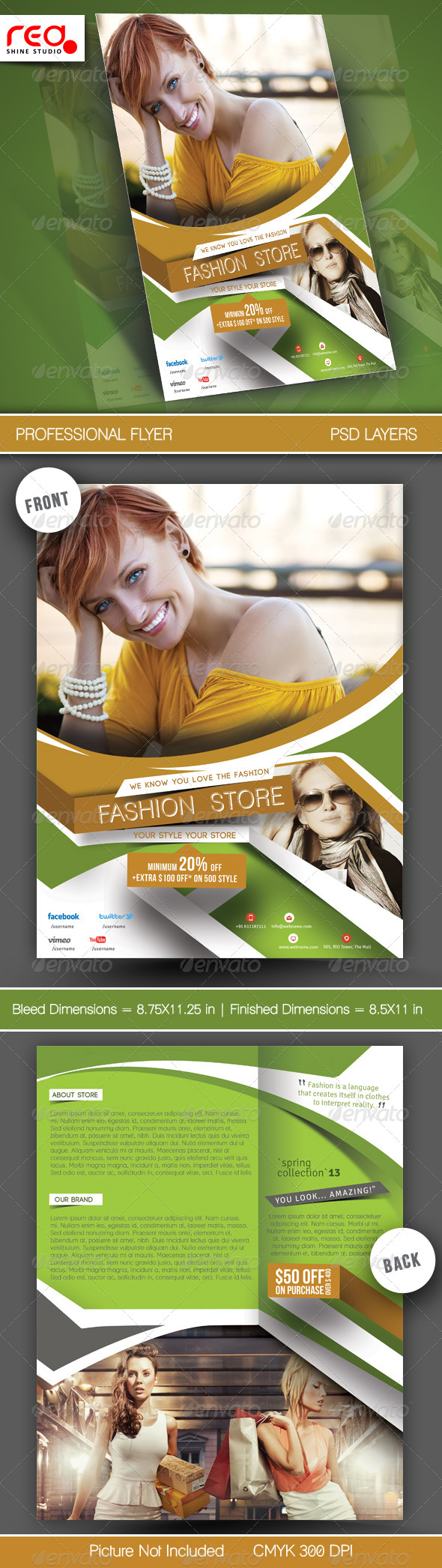 GraphicRiver Fashion Store Flyer Template 5816498