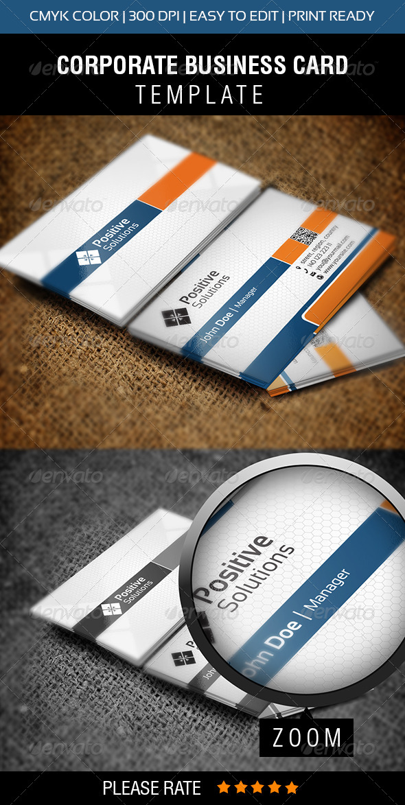 GraphicRiver Positive Solutions Business Card 5816576