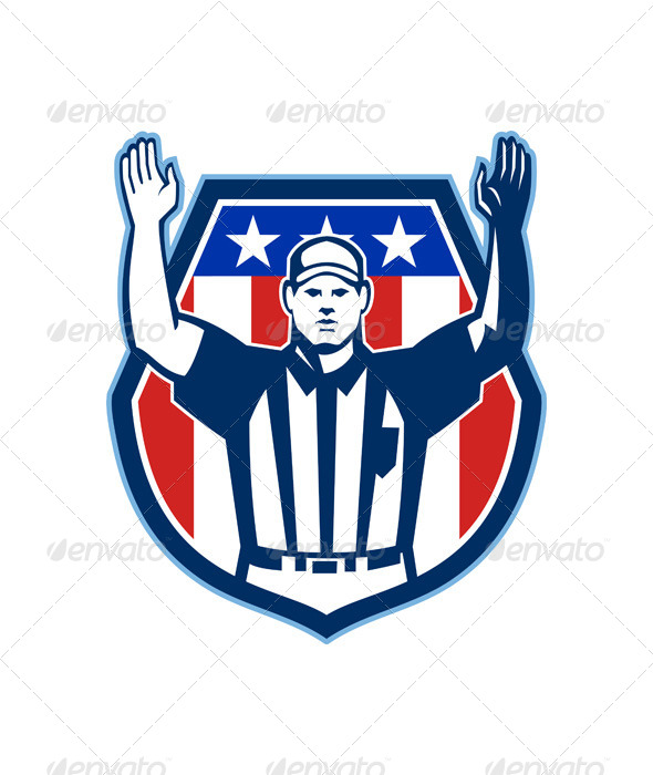 GraphicRiver American Football Official Referee Touchdown 5816593