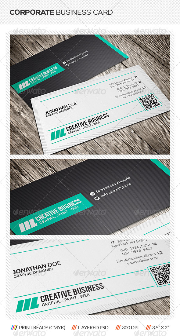 GraphicRiver Corporate Business Card 5816628