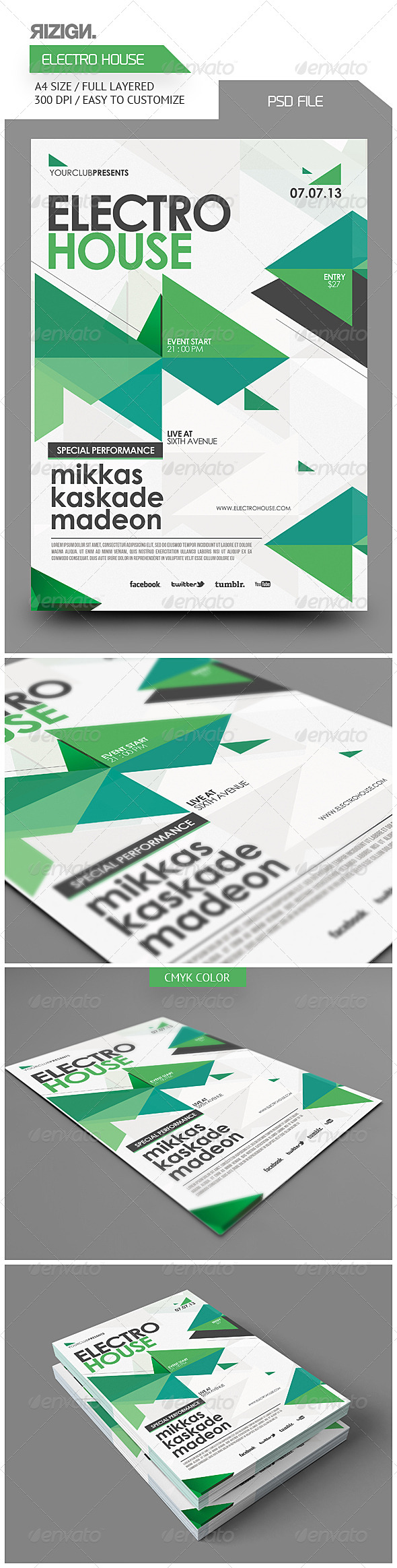 GraphicRiver Electro House Flyer 5816702