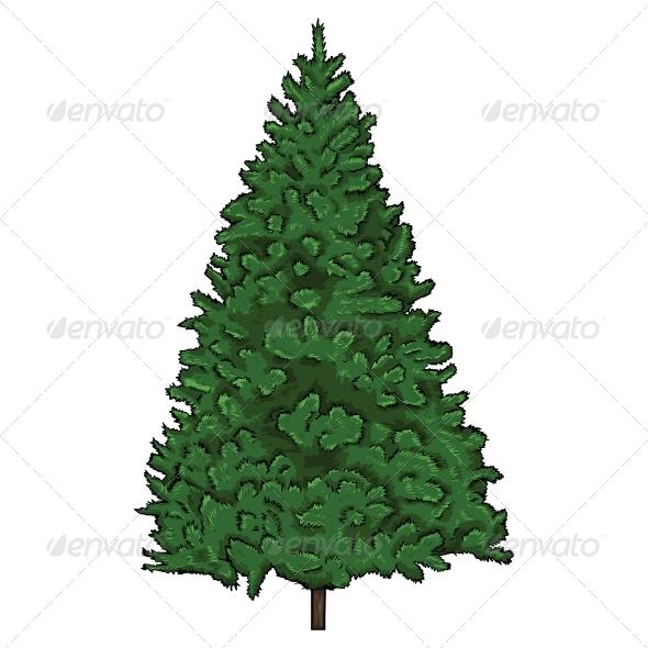 GraphicRiver Cartoon Fir Tree 5816710