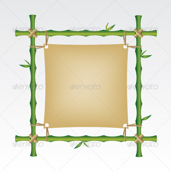 GraphicRiver Bamboo Frame Illustration 5816729