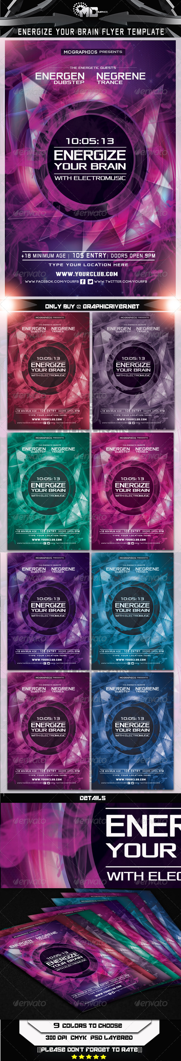 GraphicRiver Energize your Brain Flyer Template 5743109