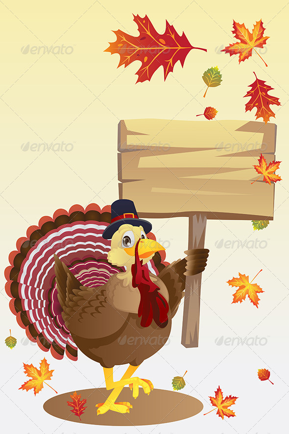 GraphicRiver Turkey with a Sign 5816759