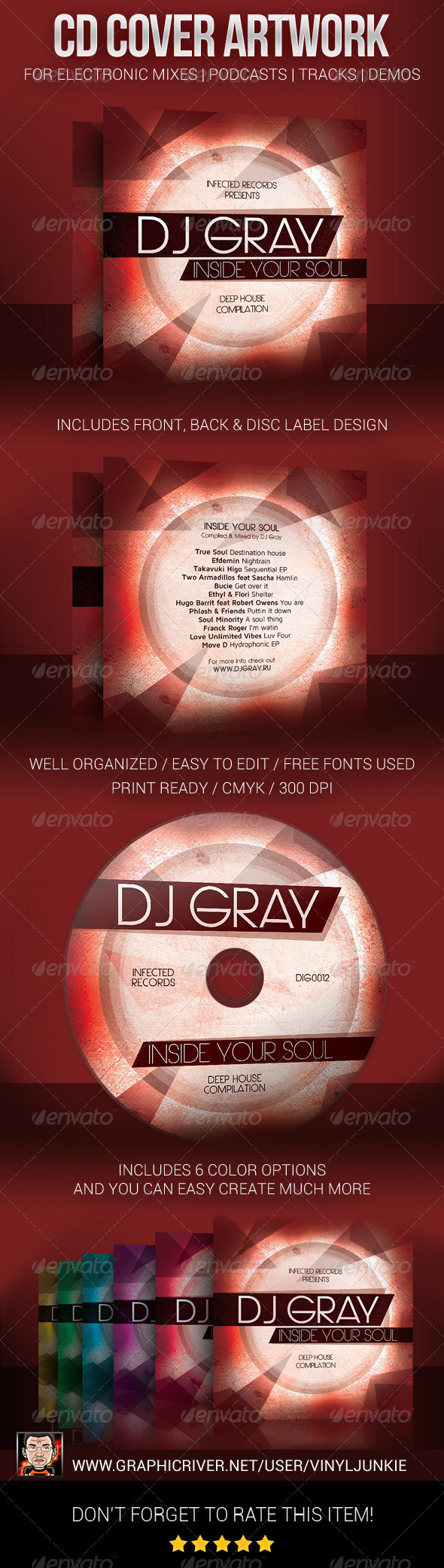 GraphicRiver DJ Mix CD Cover Artwork Template 5816765