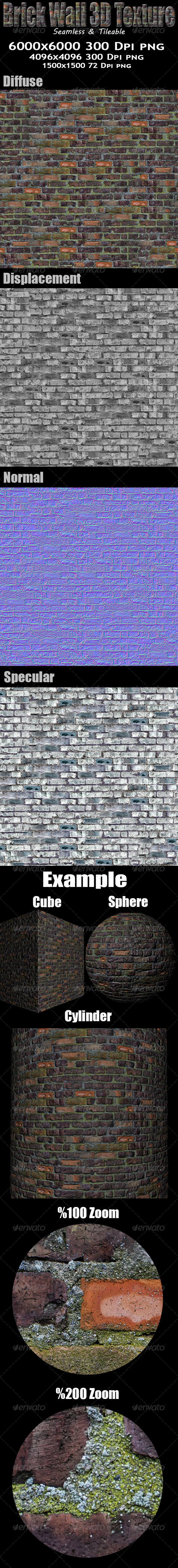 3DOcean Brick Wall 3D Texture 5815364