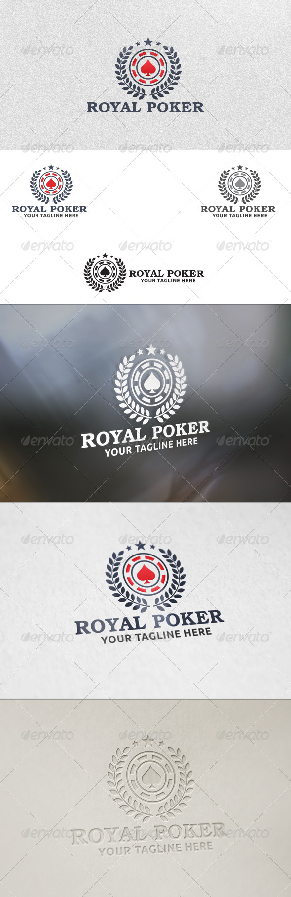 GraphicRiver Royal Poker Logo Template 5816852