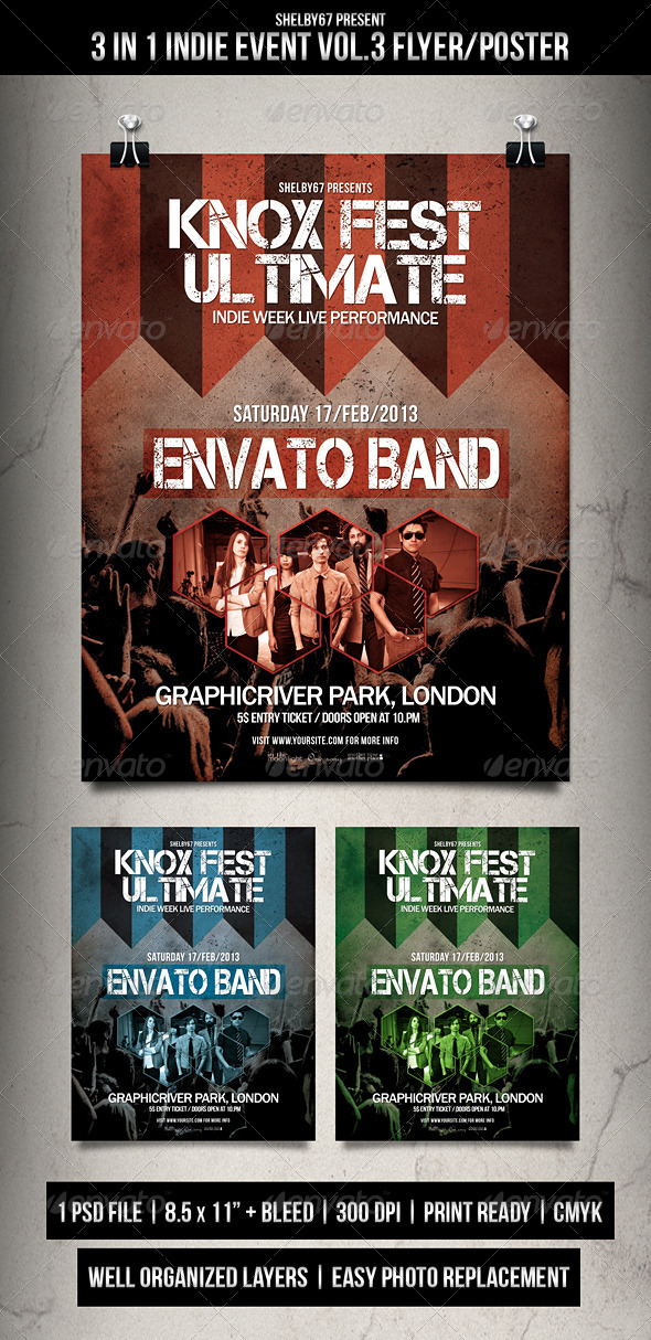 GraphicRiver Indie Event Flyer Poster Vol.3 5816879