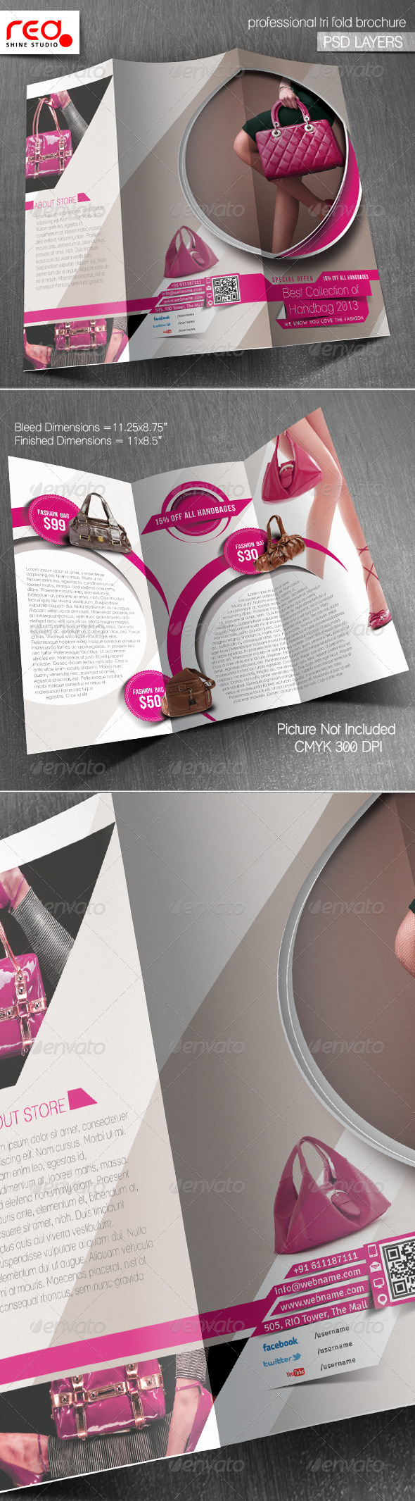 GraphicRiver Product Promotion Trifold Brochure Template 5816924
