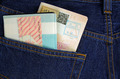 australian visa and passort in a pocket - PhotoDune Item for Sale