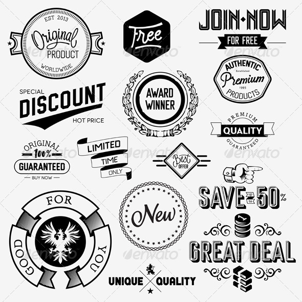 GraphicRiver Vector Vintage Badges 5816988