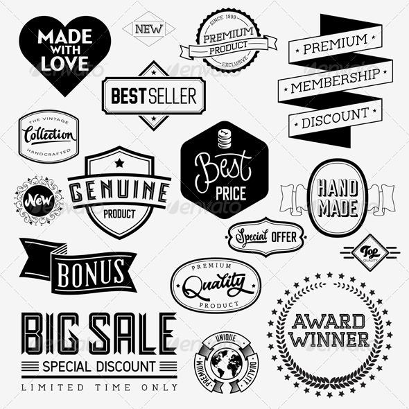 GraphicRiver Vector Vintage Badges 5816993