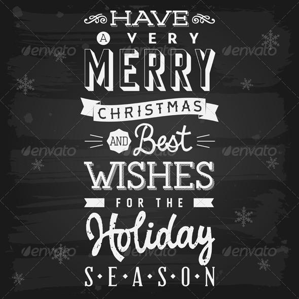 GraphicRiver Christmas and Holiday Season Greetings chalkboard 5817095