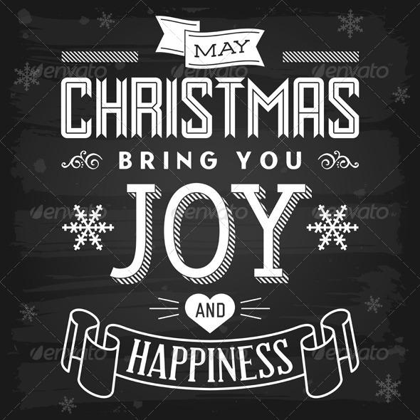 GraphicRiver Christmas Greetings Chalkboard 5817101