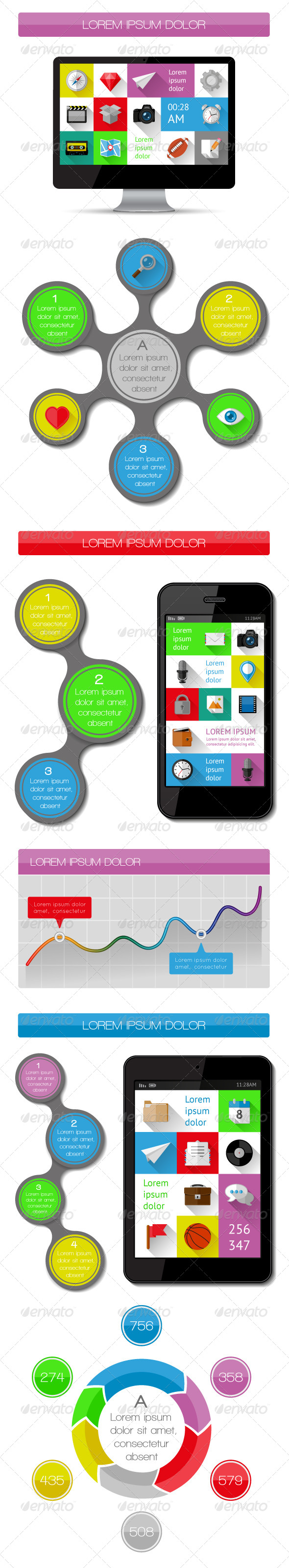 GraphicRiver UI Infographics and Web Elements 5817103