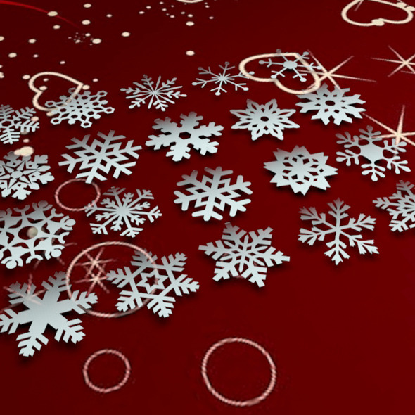 20 Pack of 3D Snowflakes - 3DOcean Item for Sale