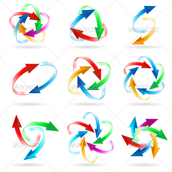 GraphicRiver Set of Arrow Circles 5817119